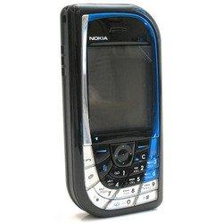 Корпус для Nokia 7610 без средней части (CD000458) (черный/синий)