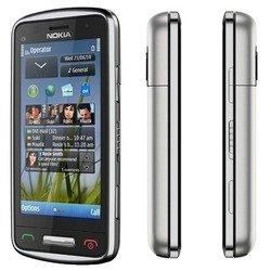 Корпус для Nokia C6-01 (CD020828) (серебристый)