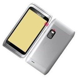 Корпус для Nokia E7 (CD020833) (серебристый)