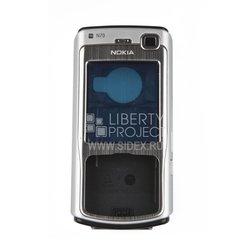 Корпус для Nokia N70 (CD000266) (серебристый)