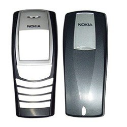 Корпус для Nokia 6610i без средней части (CD012278) (без логотипа, черный)