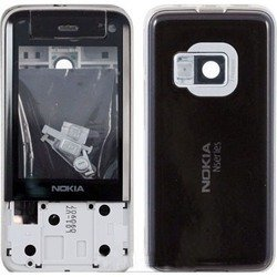 корпус для nokia n81 8gb (cd012294) (без логотипа, черный)
