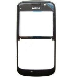 Передняя панель корпуса для Nokia E5-00 с защитным стеклом дисплея (CD124742) (черный)