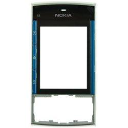Передняя панель корпуса с защитным стеклом дисплея для Nokia X3-00 (CD124841) (голубой)