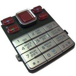 Клавиатура для Nokia 6300 (CD001980) (серебристый/красный)