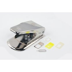 Пресс для вырезания SIM-карт 2 в 1 + скрепка  (MicroSIM/NanoSIM Cutter)