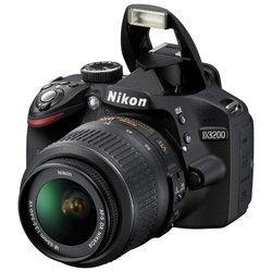 nikon d3200 kit (black 24.2mpix 18-140mm f/3.5-5.6g ed vr af-s dx  3 1080p sd)
