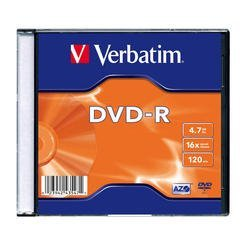 ��������� ���� dvd-r verbatim 4.7gb 16x single slim case (1 ��) (43547)