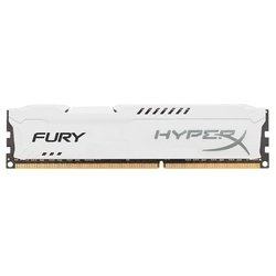 память ddr3 8gb 1600mhz kingston hyperx fury white series (hx316c10fw/8) rtl