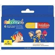 Краски для рисования пальцами Adel ADELAND (234-0620-100) (6 цветов)