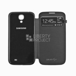 чехол-книжка для samsung galaxy s4 i9500 (s view cover sm001324) (черный)