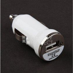 Автомобильное зарядное устройство USB (R0002010) (белый)