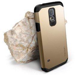 Пластиковый чехол-накладка Spigen SGP Tough Armor для Samsung Galaxy S5 (SGP10764) (золотистый)