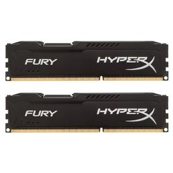 Память Kingston 16GB 1600MHz DDR3 CL10 DIMM HyperX FURY Black Series (HX318C10FBK2/16)