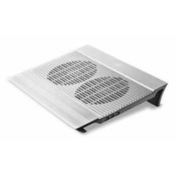 "Охлаждающая подставка для ноутбука до 14"" (Deepcool N8) (серебристый)"