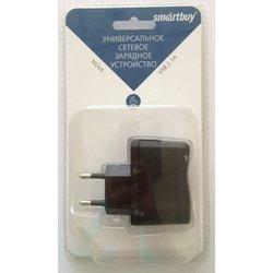 Универсальное сетевое зарядное устройство, адаптер 1хUSB, 2.1А (SmartBuy NOVA SBP-1170) (черный)