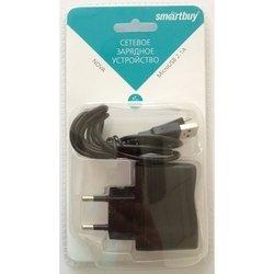 Сетевое ЗУ SmartBuy NOVA, 2.1А, кабель MicroUSB (SBP-1160) (черный)