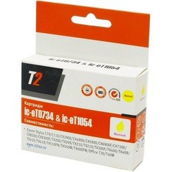 Картридж для Epson Stylus C79, C110, CX3900, CX4900, CX5900, CX6900F, CX7300, CX8300, CX9300F, TX200, TX209, TX210, TX219, TX400, TX409, TX410, TX419, TX550W, Office TX300F, TX510FN, TX600FW, T30, T40W (T2 IC-ET0734) (желтый, с чипом) (13.5 мл)