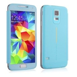 чехол-накладка baseus bohem для samsung galaxy s5 (ltsas5-be03) (голубой)