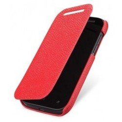 чехол-книжка для htc one max (lazarr protective case) (эко кожа, красный)