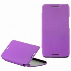 чехол-книжка для htc one mini (lazarr protective case) (эко кожа, сиреневый)