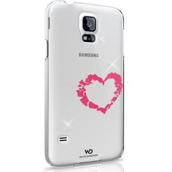 чехол-накладка для samsung galaxy s5 (white diamonds lipstick heart 2410lip61) (белый)