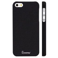 чехол-накладка smartbuy slimfit для iphone 5/5s (sbc-sandblass iphone5-k) (черный)