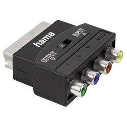 Переключатель SCART (m) - 4хRCA (f) 1зв (Hama 00122240) (черный)