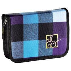 Пенал All Out (Plymouth Caribbean Check 00124857) (фиолетовый, голубой)