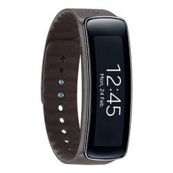 Браслет Samsung Galaxy Gear Fit (SM-R3500ZKASER) (коричневый ремешок)