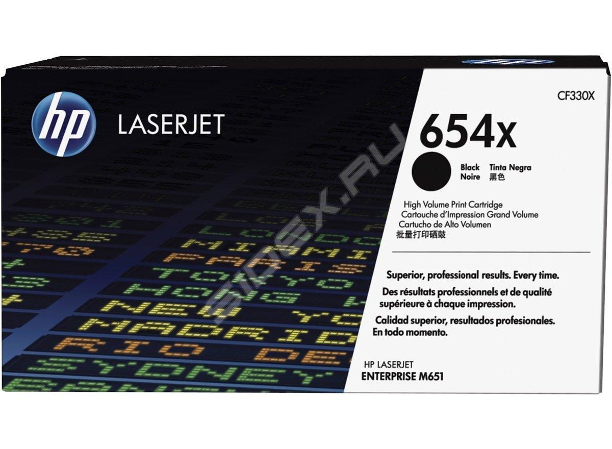Картридж HP CF332A для LaserJet Enterprise Color MFP M680dn/M651n. Жёлтый. 15000 страниц. (654A)