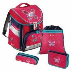 Ранец школьный с аксессуарами Step By Step (Comfort Butterfly Dancer 00129073) (розовый, синий)