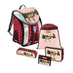 Ранец школьный с аксессуарами Step by Step (Flexline Lovely Deer 00129081) (розовый, коричневый)