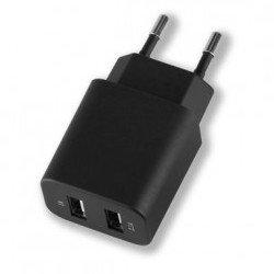 Сетевое зарядное устройство 2 x USB 2.1А + дата-кабель 8-pin для Apple (Deppa Ultra 11355) (черный)