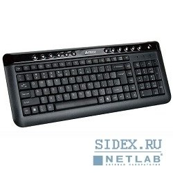 клавиатура keyboard a4tech kl-40,  usb (чёрная) slim,  провод. кл-ра.