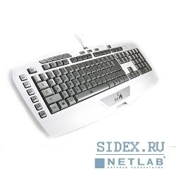 клавиатура genius gx gaming imperator pro white edition белый usb multimedia gamer led