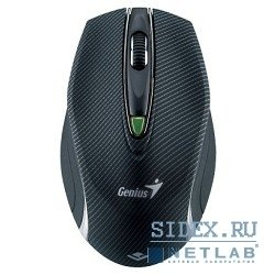 мышь genius traveler 9010ls black laser wireless (1600dpi) 5but
