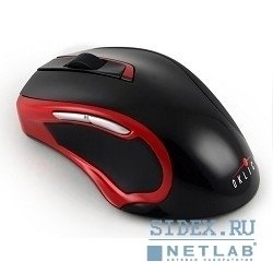 "манипулятор ""мышь"" oklick 620lw black/red cordless optical usb,  800/1600dpi"