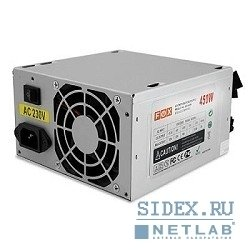 ���� ������� ATX 450W OEM FOX (80�� ����������/1*PCI-E/24pin/2*SATA,  �������� 450W)