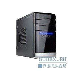 корпус mini tower inwin emr-038bs black-silver 450w matx [6078072] rb