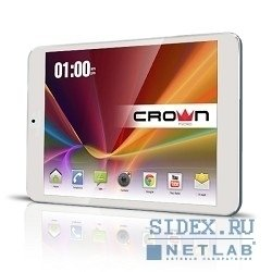 "crown cm-b809 white,  8"" ips,  quad-core(4 ядра) a31s allwinner cortex-a7 1, 2ghz*4,  1gb,  8gb, 1024*768, wifi , m-hdmi, andr4.2 (кож.чехол, защит.пленка, otg каб)"