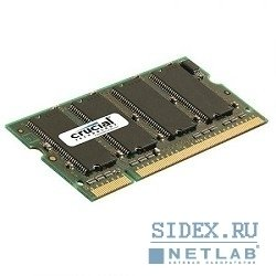 модуль памяти crucial ddr 512mb pc-3200 so-dimm [ct6464x40b]