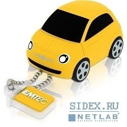 �������� ���������� usb 2.0 emtec f100 8gb fiat 500 yellow [ekmmd8gfi100]