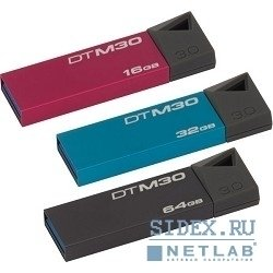 носитель информации usb 3.0 kingston usb memory 64gb,  (dtm30/64b)