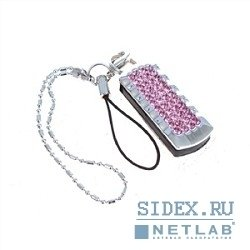 флэш-накопитель qumo charm series ice rose 16gb (qm16gud-charm-ice)