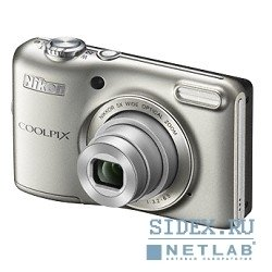 цифровая камера nikon coolpix l28 silver 20.1mp, opt zoom 5x, 3""