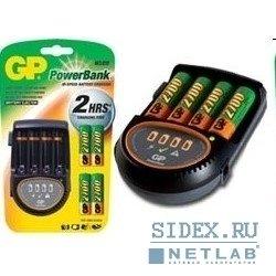 Зарядное устройство для AAA/АА + 4 аккумулятора AA (GP PB50GS270CARA-2UE4/U4) (2700mAh)