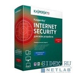 Антивирус Касперского KL1941RBCFS Kaspersky Internet Security Multi-Device Russian Edition. 3-Device 1 year Base Box