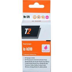Картридж для HP Deskjet 3070A, Photosmart 5510, 5515, 6510, 7510, B010b, B100e, B109c, B110a, B110d, C6383, C8383, C8553, D5463 (T2 IC-H319) (пурпурный, с чипом)