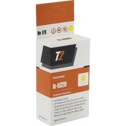 Картридж для HP Deskjet 3070A, Photosmart 5510, 5515, 6510, 7510, B010b, B100e, B109c, B110a, B110d, C6383, C8383, C8553, D5463 (T2 IC-H320) (желтый, с чипом)